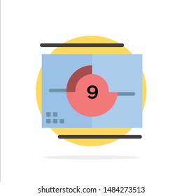 Film, Movie, Numbers, Opening, Premiere Abstract Circle Background Flat color Icon. Vector Icon Template background