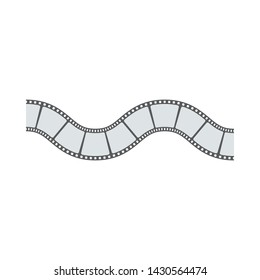 Film movie strip on white background