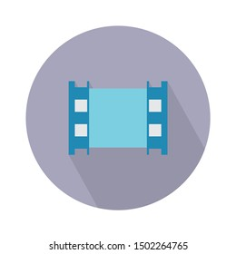 Film pictogram flat icon - From Movie and film icons set