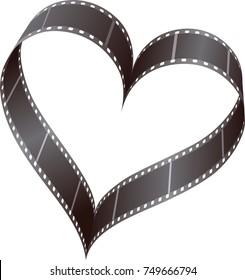 film reel in heart shape
