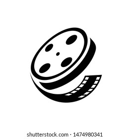 film reel icon. Logo element illustration.film reel design. colored collection. film reel concept. Can be used in web and mobile