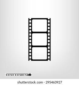Film reel icon vector illustration eps10.