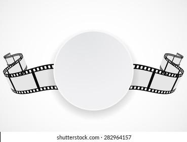 film reel strip abstract frame background design
