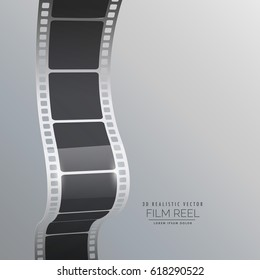 film reel strip vector background