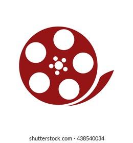 film reel , Vector illustration over white background
