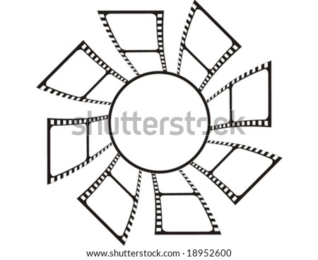 Film Roll Copy Space Individual Objects Stock Vector Royalty Free
