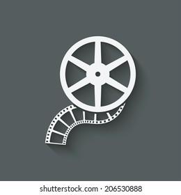 film roll design element - vector illustration. eps 10