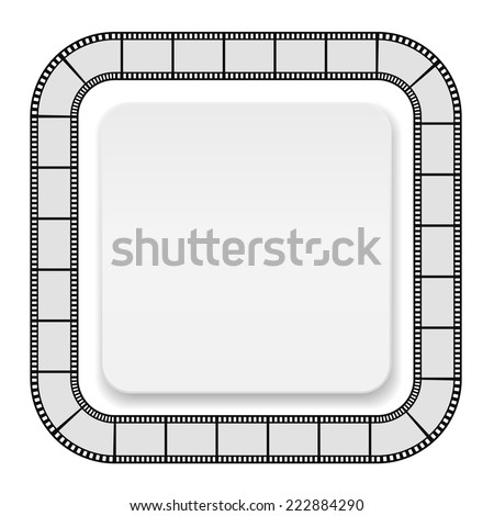 Film Roll Frame Card Abstract Background Stock Vector (Royalty Free ...