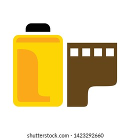 film roll icon. flat illustration of film roll vector icon for web