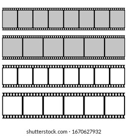 Film roll vector design illustration isolated on white background