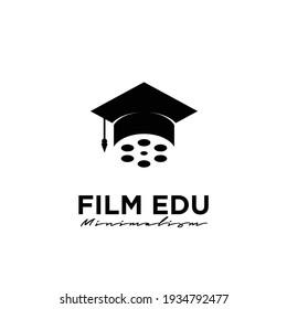 Film school Studio Movie Video Cinema Cinematography Film Production logo design vector icon illustration Isolated White Background