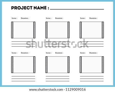 film storyboard composition scene template episode stock vector