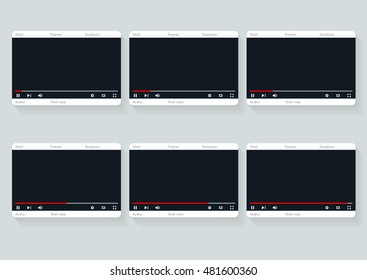 Film storyboard template. Video 16 9 storyboard A4 design template illustration