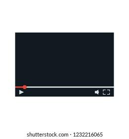 Film storyboard. Video 16 9 storyboard template vector illustration