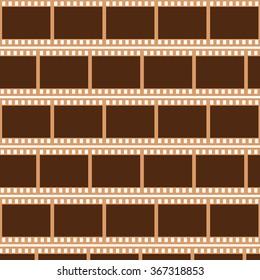 Film strip background. 35mm Negatives. Vector illustration