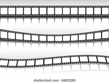 Film strip background vector  collection