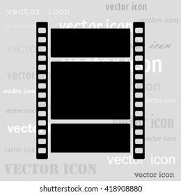 film strip black vector icon