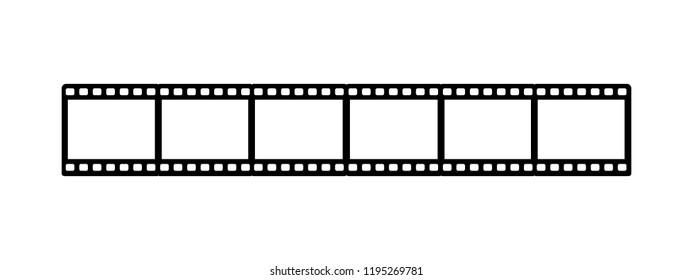 Film Strip - Cinema, Movie Icon - Vector Illustration - Isolated On White Background