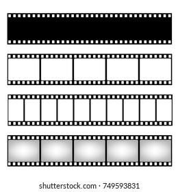 Film strip collection. Vector template. Cinema frame