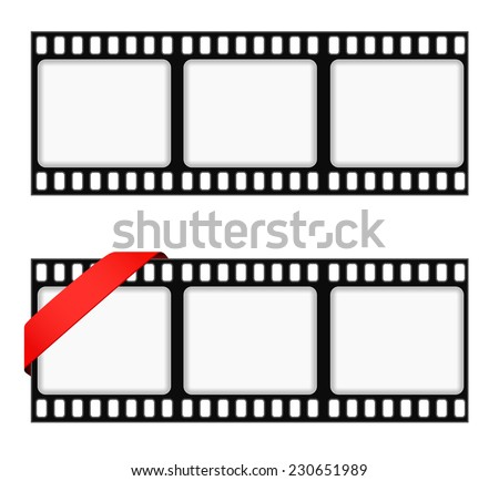 Film Strip Frame Background Ribbon Stock Vector (Royalty Free ...