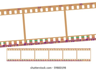 film strip, frame number is from 31 to 36.