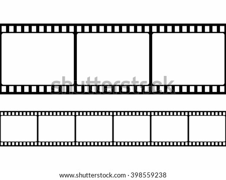 Film Strip Frame Set Flat Style Stock Vector (Royalty Free ...