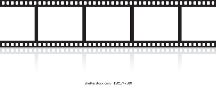 Film strip with a glare isolated on white background - stock vector.