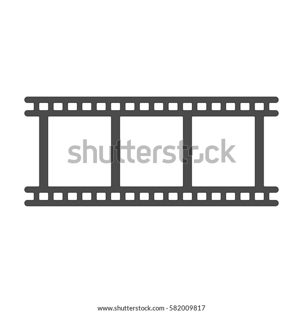 Film strip icon. Camera roll or photographic film vector sign.