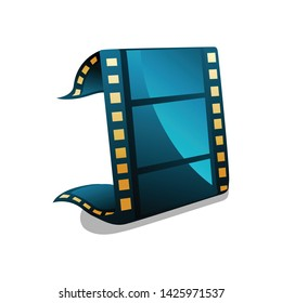 Film Strip Icon. Isolated Vector Icon. Cinema Movies.