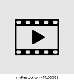 film strip icon, video vector icon