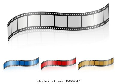 Film strip isolated on white. Vector illustration.