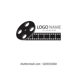 Film strip logo template