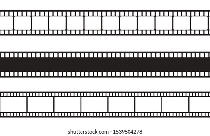 Film strip moving on white screen,vintage movie frame concept ,old camera roll style for advertising ,TV commercial, movie time, ads, web design, video editor, game,blogger, 4K Video loop