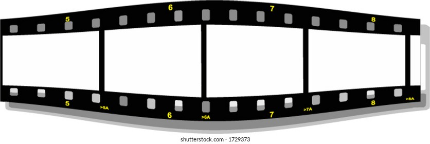 film strip perspective front