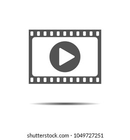 Film strip with play - vector icon