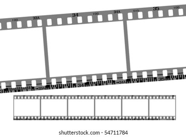film strip, total 6 continous frames. vector with correct dimension and details.