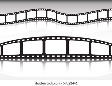 Film strip vector background illustration  collection