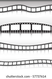 Film strip vector  cinema banner  illustration  collection
