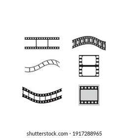 Film strip vector icon illustration background.