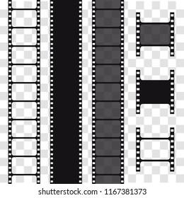 Film strip, vector illustration. Reel tape
