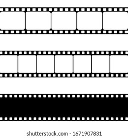 Film strip, Vector illustration. Set