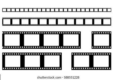 film strip vector . Realistic filmstrip