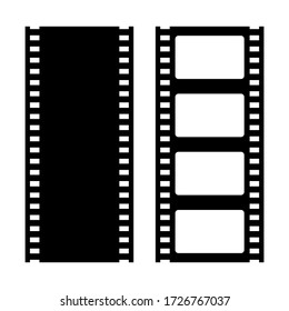 Film strip vector retro icons isolated on white background