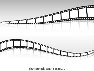 Film strip  vector set of backgrounds