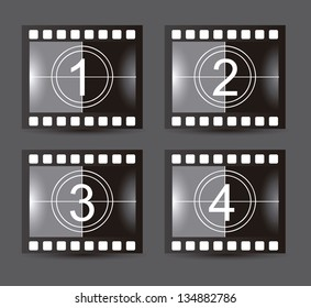 film stripe over gray background. vector illustration