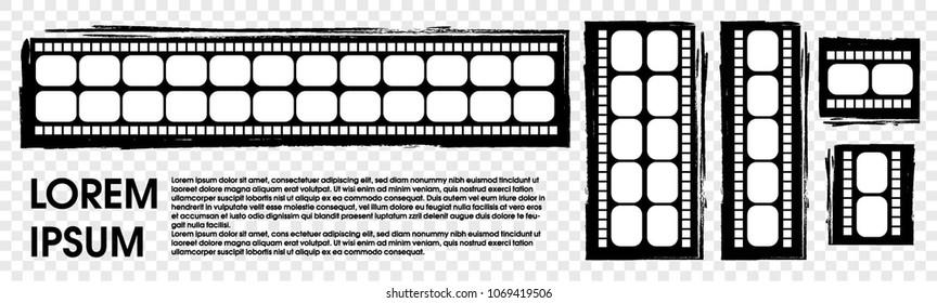 Film stripe vector on atransparent background