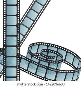 Film stripes on white background. Photostrip. Film roll