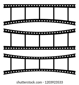 Film strips and blank writing area. Vector illustration design.