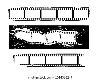 Film strips set. Vector.