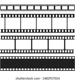 film strips and stamps collection,illustration vector